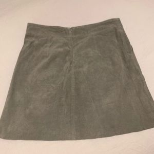 Willow & Clay Skirts - Willow & clay grey suede